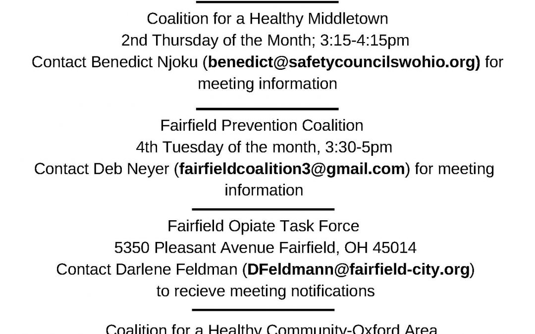 Butler County Coalition Task force Meeting Guide